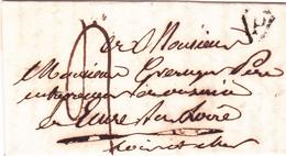 LAC Précurseurs Paris Marque P Noire.Taxe 4 Déc Pour Mr Greruger (Onzain - Ecures) L&C (Complément Objet 458945726) - Marcophilie (Lettres)