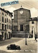 Toscana-firenze-fucecchio Piazza Vittorio Veneto Veduta Chiesa Negozi Monumento Auto Mobile Topolino Anni 50/60 - Italia