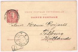 Ponta Delgada, 1904, Bilhete Postal Ponta Delgada-Tilburg - Ponta Delgada