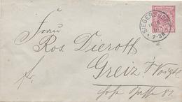 SIEGERSDORF - 1891 , Umschlag , Envelope - Germania