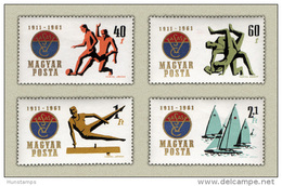 Hungary 1961. Vasas Sport Club Set MNH (**) Michel:1772-1775 / 2 EUR - Unused Stamps