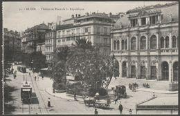 Théâtre Et Place De La République, Alger, Algerie, C.1910 - Régence CPA - Algiers