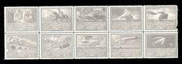 Austria - WIPA 1933, Set Of 10 Vignette. / 2 Scans - Austria