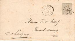 Envelop G2  Van RHENEN Met Puntstempel 168 Naar Leipzig - Postal Stationery