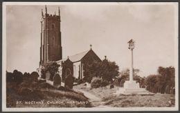 St Nectan's Church, Hartland, Devon, 1947 - RA Series RP Postcard - England