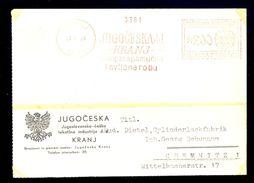 Slovenia, Kingdom Of Yugoslavia - Nice Machine Cancel 'JUGOCESKA Dd KRANJ' On... / 2 Scans - Slovenia