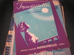 """SPARTITO""""INCANTATELLA"""" SANREMO 1955-EDIZIONI MUSICALI MENESTRELLO - Partitions Musicales Anciennes"""