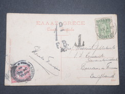 GRANDE BRETAGNE - Taxe Sur Carte Postale De Grèce En 1914  - L 9378 - Tasse