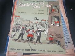 """SPARTITO""""CANZONE DA DUE SOLDI"""" SANREMO 1954-EDIZIONI RICORDI - Partitions Musicales Anciennes"""