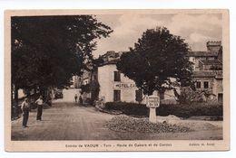 VAOUR (80) - ROUTE DE CAHORS ET DE CORDES - Vaour