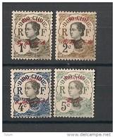 Mong-Tzeu N°Yv. 34A à 37 - Neuf Luxe ** - MNH - Postfrisch - Cote 6 EUR - Mong-tzeu (1906-1922)