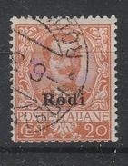 Italy Occ. Greece EGEO - 1916-17 O/p Rodi On 20c. Used - Aegean (Rodi)