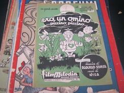 """SPARTITO""""ERA UN OMINO PICCINO PICCINO """" EDIZIONI FILM MELODIA -SANREMO 1955 - Partitions Musicales Anciennes"""