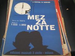"""SPARTITO""""E' MEZZANOTTE"""" X FESTIVAL DI SANREMO -EDIZIONI MUSICALI 3 STELLE - Partitions Musicales Anciennes"""