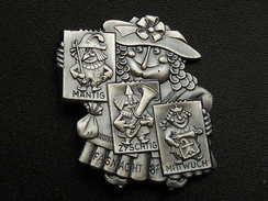 Broche -  CARNAVAL DE BALE  Suisse - FASNACHT 1987 - Argent - Jetons & Médailles