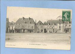 Le Grand Fougeray (35) La Place 2 Scans Café Phelippeau - Hôtel De France Café Leblay 11/09/1908 - Frankrijk