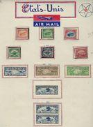 Etats Unis, à La Page, Sur Charniére ( Poste Aérienne ) - Autres