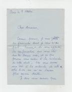 LETTRE AUTOGRAPHE De SIMONE CHEVREUL écrivain à PAUL COBAN Poëte - Autographs