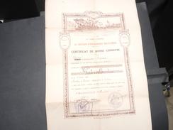 FRANCE - Certificat De Bonne Conduite D' Un Infirmier De Marseille En 1902 - L 9385 - Documents