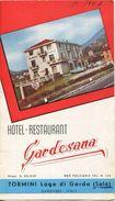 Italien - Tormini Salo - Hotel Restaurant Gardesana Propr. G. Kelder - Faltblatt Mit 7 Abbildungen - Dépliants Turistici
