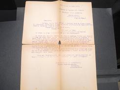 FRANCE - Lettre De Bordeaux Pour Le Commissaire Général Des Chantiers De Jeunesse En 1943 - L 9387 - Documents