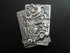 Broche -  CARNAVAL DE BALE  Suisse - FASNACHT 2008 - Argent - Jetons & Médailles