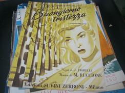 """SPARTITO""""BUONGIORNO TRISTEZZA"""" SANREMO 1955-EDIZIONI ZERBONI - Partitions Musicales Anciennes"""