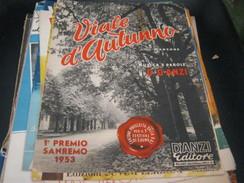 """SPARTITO""""VIALE D'AUTUNNO"""" -D'ANZI EDITORE -SANREMO 1953 - Partitions Musicales Anciennes"""