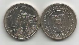 Yugoslavia 1 Dinar 2000. UNC KM#180 - Yugoslavia