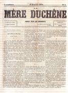 La Mère Duchêne.16 Janvier 1870.n°4.quatre Pages.complet.belles Marges. - Journaux - Quotidiens