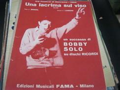 "SPARTITO""UNA LACRIMA SUL VISO"" BOBBY SOLO SANREMO 1964 - Partitions Musicales Anciennes"