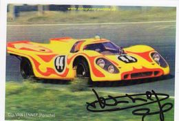 Gijs Van Lennep  -  Porsche      -  Carte Promo (signée) - Le Mans