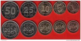 """Zimbabwe Set Of 5 Coins: 1 - 50 Cents 2014 """"Bond Coins"""" UNC - Zimbabwe"""