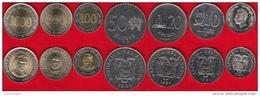 Ecuador Set Of 7 Coins: 1 - 1000 Sucres 1988-1997 UNC - Equateur