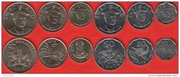 "Swaziland Set Of 6 Coins: 10 Cents - 5 Emalangeni 2015 ""Mswati III"" UNC - Swaziland"
