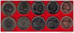 Jordan Set Of 5 Coins: 1 Qirsh - 1/2 Dinar UNC - Jordan