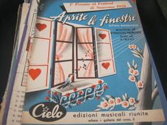 """SPARTITO """"APRITE LE FINESTRE"""" SANREMO 1956 - Partitions Musicales Anciennes"""