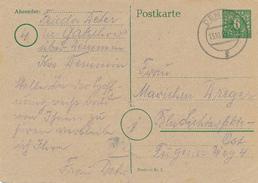 DEMMIN - 1945 , Ganzsache Nach Berlin - Falte - Sowjetische Zone (SBZ)