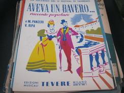 """SPARTITO """"AVEVA UN BAVERO"""" IV FESTIVAL DI SANREMO - Partitions Musicales Anciennes"""