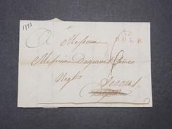 """FRANCE - Marque Postale """" 38 Dole"""" En Rouge Sur Lettre Pour Vesoul En 1793 - L 9412 - 1701-1800: Précurseurs XVIII"""
