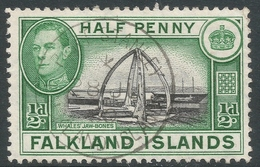Falkland Islands. 1938-50 KGVI. ½d Used. SG 146 - Falkland Islands
