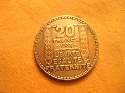 France: 20 Francs Turin 1933 - L. 20 Francs