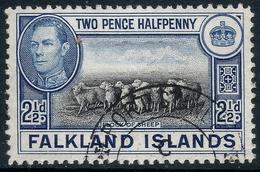 Falkland Islands. 1938-50 KGVI. 2½d Black And Blue Used. SG 151 - Falkland Islands