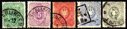 04580 Alemanha Reich 39/42 + 44 Numeral Aguia U - Allemagne
