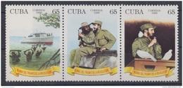 1999.27 CUBA 1999. MNH. 40 ANIV DE LA REVOLUCION. TRIPTICO FIDEL CASTRO. - Cuba
