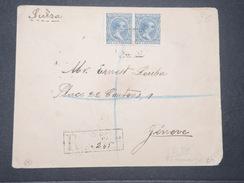 ESPAGNE - Enveloppe En Recommandé De Las Palma En 1897 Pour La Suisse -  L 9429 - Storia Postale