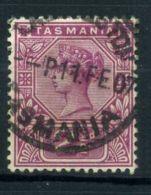TASMANIE (  POSTE ) : Y&T N°  50  TIMBRE  BIEN  OBLITERE  , A  VOIR . - 1853-1912 Tasmania