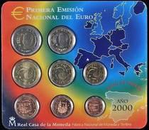 42422) Spanien Euro - KMS 2000, Von 1 Cent Bis 2 Euro, Im Blister, St. - Spanien