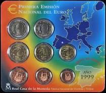 42421) Spanien Euro - KMS 1999, Von 1 Cent Bis 2 Euro, Im Blister, St. - Spanien