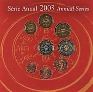 42539) Portugal Euro - KMS 2003, Von 1 Cent Bis 2 Euro, Im Folder, St. - Portugal